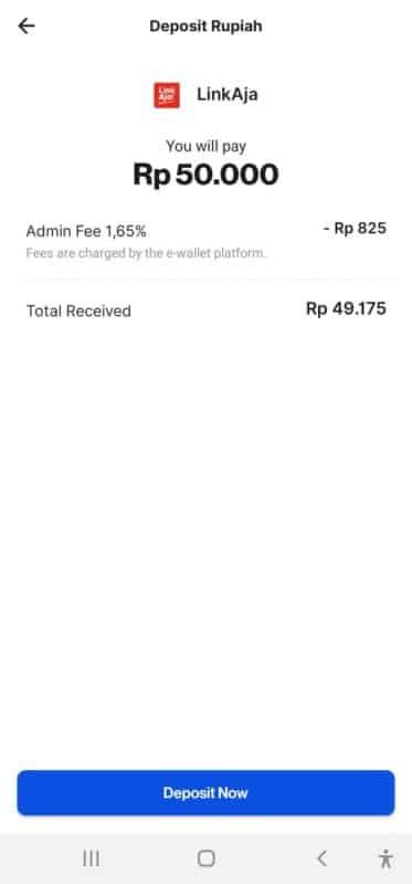 cara deposit rupiah dengan LinkAja
