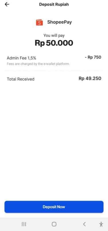 deposit rupiah shopeepay
